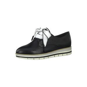 MARCO TOZZI Šnurovacie topánky  čierna