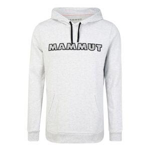 MAMMUT Športová mikina  čierna / svetlosivá