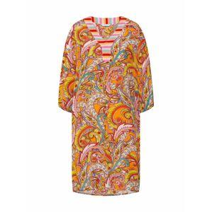 Frogbox Letné šaty  žltá / svetlomodrá / oranžová / ružová