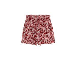 MANGO KIDS Nohavice  biela / červená