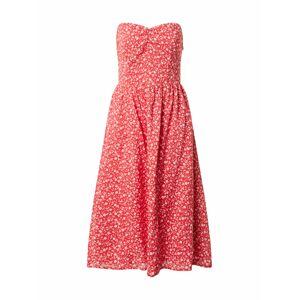 Tommy Jeans Letné šaty  biela / červená