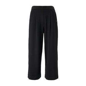 TOM TAILOR DENIM Plisované nohavice  čierna
