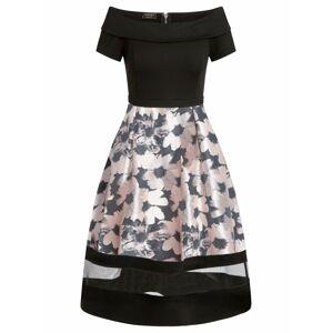 APART Šaty  čierna / svetloružová