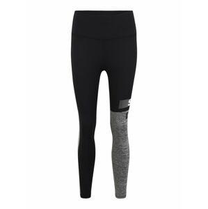 Superdry Športové nohavice  sivá / čierna