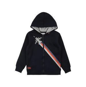 STACCATO Tepláková bunda  tmavomodrá / sivá / kráľovská modrá / oranžová
