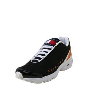 Tommy Jeans Nízke tenisky 'HERITAGE'  čierna / biela / oranžová
