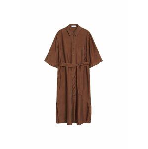 MANGO Šaty  čokoládová