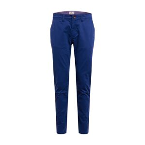 TOM TAILOR Chino nohavice 'washed structure chino'  modrá
