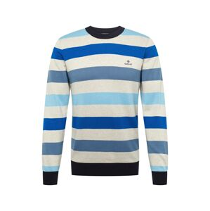GANT Sveter 'D1. MULTI COLORED STRIPE CREW'  modrá