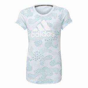 ADIDAS PERFORMANCE Funkčné tričko  svetlomodrá / biela / modrá melírovaná
