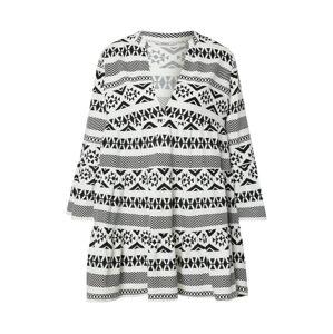 ONLY Košeľové šaty 'LUCCA'  čierna / šedobiela