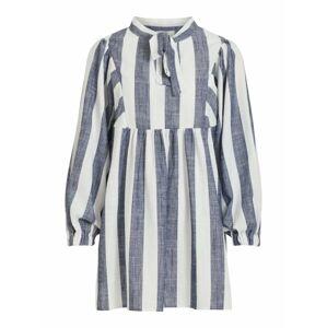 OBJECT Košeľové šaty 'LOU'  biela / modrá denim