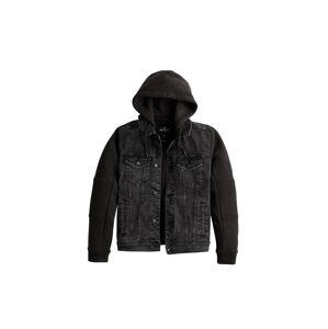 HOLLISTER Prechodná bunda  čierna