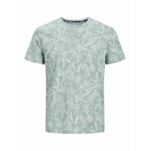 JACK & JONES Tričko  zelená melírovaná