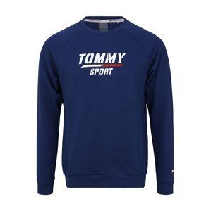 Tommy Sport Športová mikina  biela / modrá
