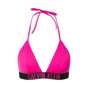 Calvin Klein Swimwear Bikinový top 'FIXED TRIANGLE-RP'  ružová / čierna