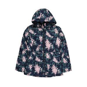 NAME IT Prechodná bunda  smaragdová / námornícka modrá / svetloružová