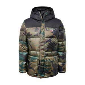 LEVI'S Zimná bunda  hnedá / tmavozelená
