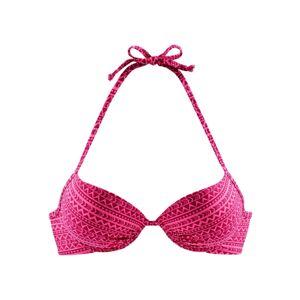VENICE BEACH Bikinový top  tmavoružová / ružová