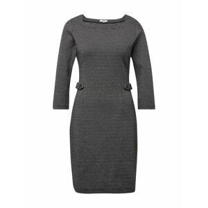 TOM TAILOR Puzdrové šaty  čierna / biela