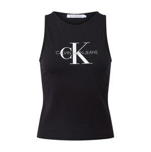 Calvin Klein Jeans Top 'MONOGRAM'  čierna