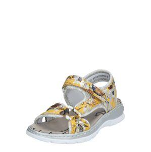 RIEKER Sandále  žltá / zmiešané farby