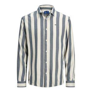 JACK & JONES Košeľa  biela / modrá