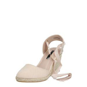 Miss Selfridge Remienkové sandále 'WINNY ANKLE TIE WEDGE'  ružová