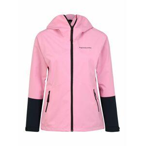 PEAK PERFORMANCE Outdoorová bunda 'Nightbreak'  ružová / čierna