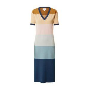 NÜMPH Šaty 'BLAISE'  ružová / modrá / hnedá
