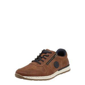 RIEKER Športové šnurovacie topánky  hnedá
