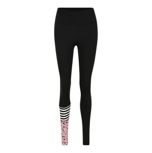 Hey Honey Športové nohavice 'Surf Style'  biela / čierna / svetloružová
