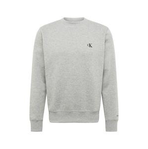 Calvin Klein Jeans Mikina 'CK ESSENTIAL REG CN'  sivá