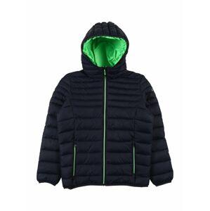 CMP Športová bunda  tmavomodrá / neónovo zelená