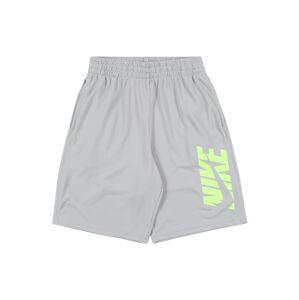 NIKE Športové nohavice  neónovo zelená / sivá