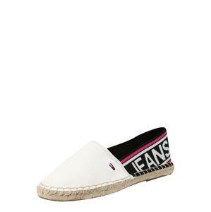 Tommy Jeans Espadrilky 'Selia'  ružová / čierna / biela