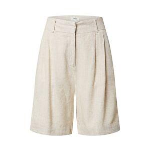OBJECT Nohavice  krémová / biela