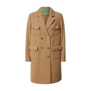 UNITED COLORS OF BENETTON Prechodný kabát  tmavobéžová
