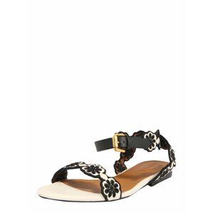 See by Chloé Remienkové sandále  čierna / biela