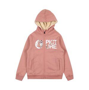 Picture Organic Clothing Tepláková bunda  ružová / biela / zelená
