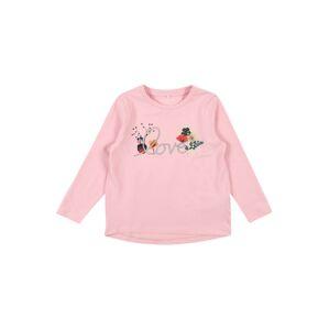 NAME IT Tričko 'FLANAYA'  zmiešané farby / ružová / sivá