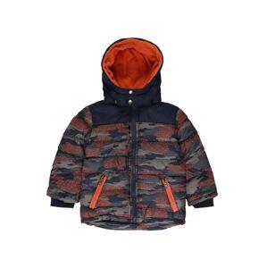BLUE SEVEN Prechodná bunda  oranžová / tmavomodrá / sivá