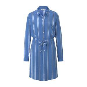 TOM TAILOR DENIM Košeľové šaty  biela / dymovo modrá