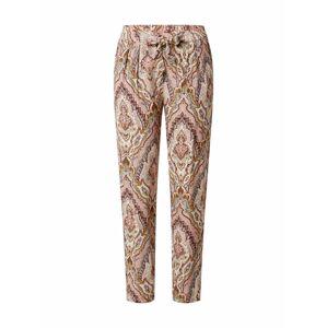 Soyaconcept Plisované nohavice 'Illa'  broskyňová / zmiešané farby