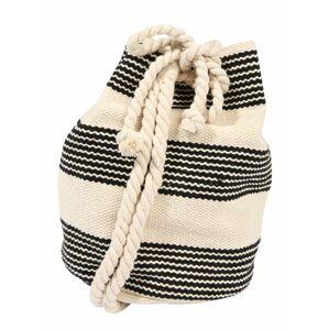 Seafolly Vak 'Stripe Bucket Bag'  krémová / čierna