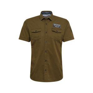 Petrol Industries Košeľa  zelená / kaki