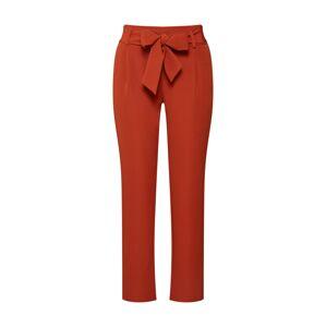 PIECES Plisované nohavice  hrdzavo červená
