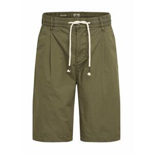 Pepe Jeans Plisované nohavice 'PIERCE POPLIN'  tmavozelená