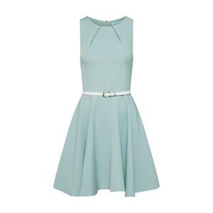Closet London Kokteilové šaty  krémová / svetlozelená