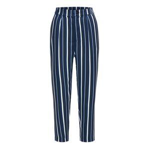 BROADWAY NYC FASHION Nohavice 'Pants Poppy'  tmavomodrá / biela